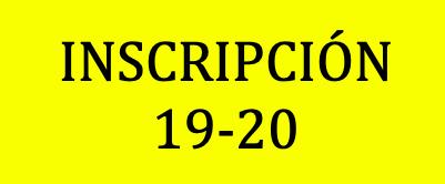 Hoja de inscripción 19-20