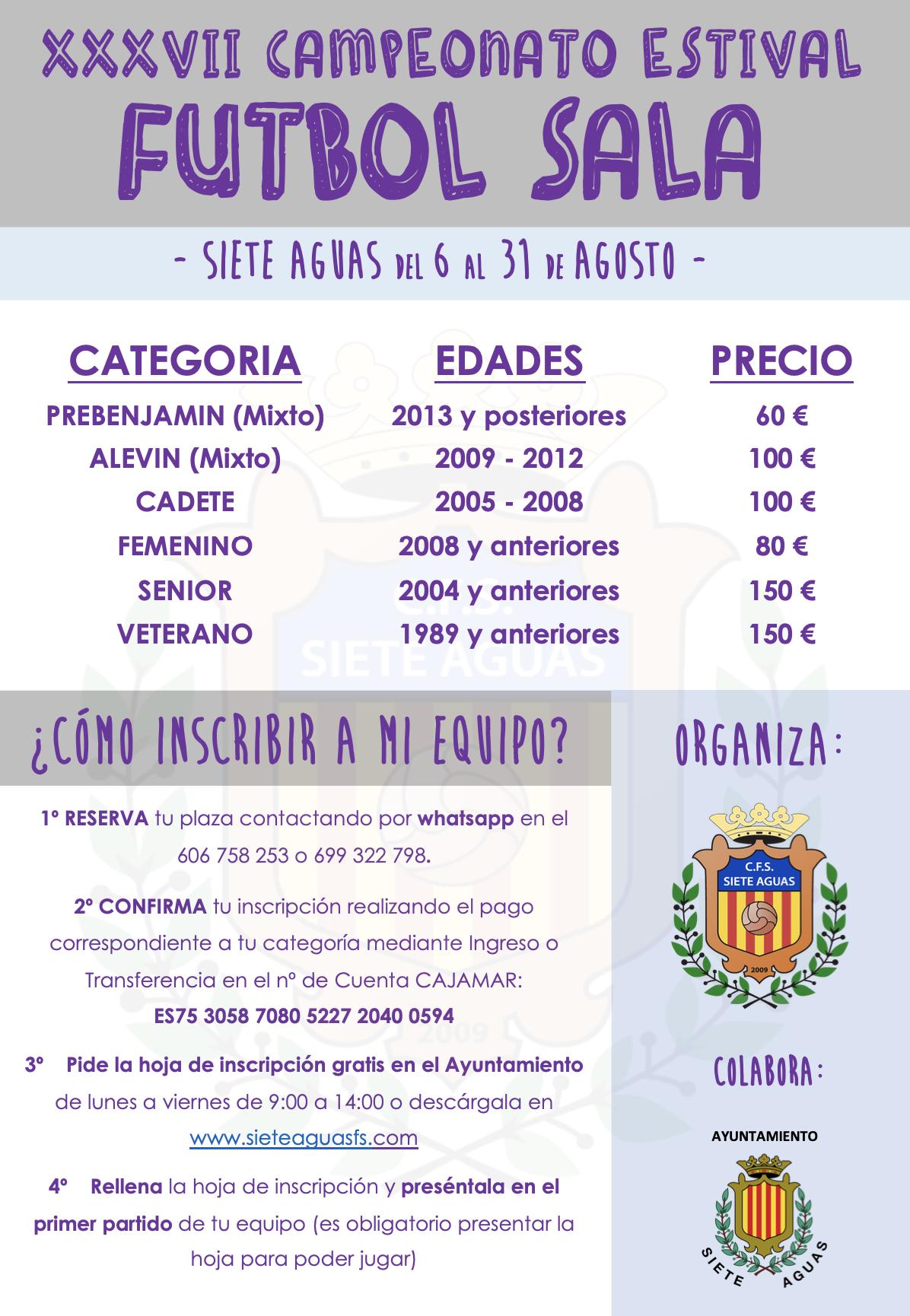 XXXVII Campeonato Estival Fútbol Sala